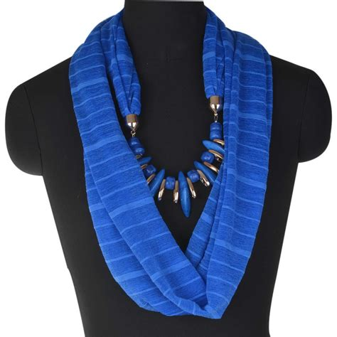 delicate bohemian neck wrap stole collar scarf necklace