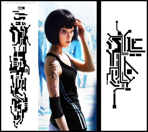 mirror s edge style tattoo by eason41 on deviantart