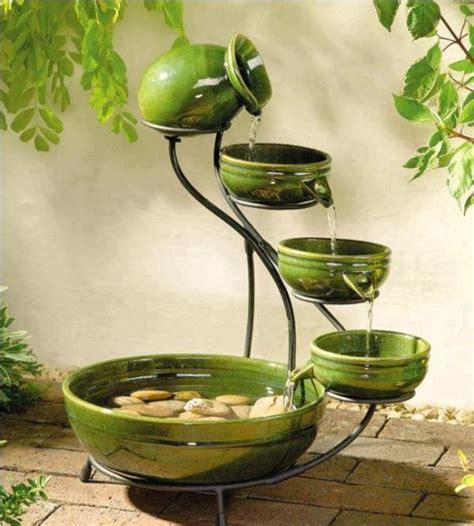 Sun Powered Cascade Fountains by Ceramic Cascade Solar Home Design Garden