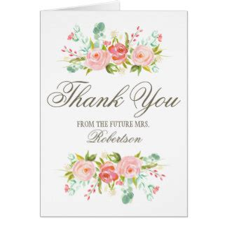 wedding shower thank you card template bridal shower thank you cards greeting photo cards
