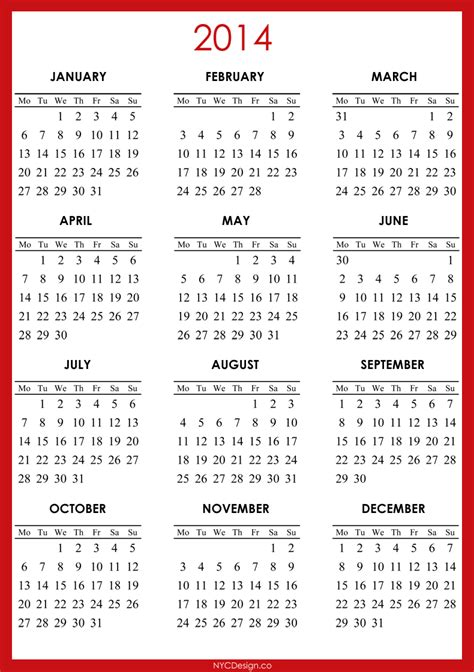 free template for calendar 2014 2014 calendar printable free calendar template 2016