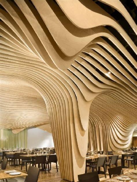 Structures And Interiors by Banq Restaurant Interior Unique Design Ceiling