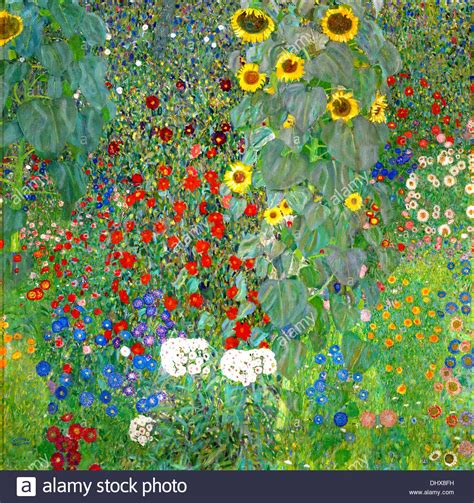 Farm Garden With Sunflowers By Gustav Klimt 1912 Stock Gustav Klimt Flower Garden