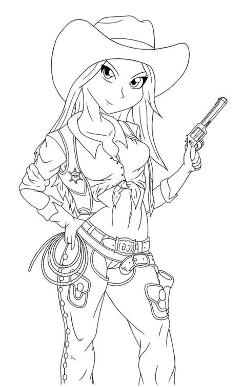 coloring pages of cowgirls and horses coloring pages to and print for free