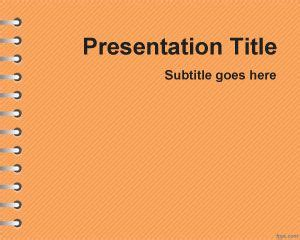 Themes Powerpoint 2010 Education | free orange school homework powerpoint template