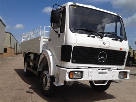 mercedes truck 4x4 mercedes 1017 4x4 drop cargo truck ex mod direct sales
