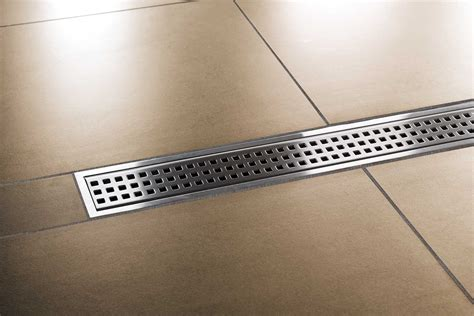 Linear Drain Shower Pan by Prefab Building Products San Diego Marble Tile