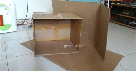 cara membuat lemari dari kardus bekas cara membuat rak dari kardus bekas gendhiss blog