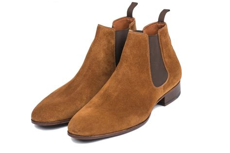 light tan chelsea boots mens suede chelsea boots for men light brown made in france