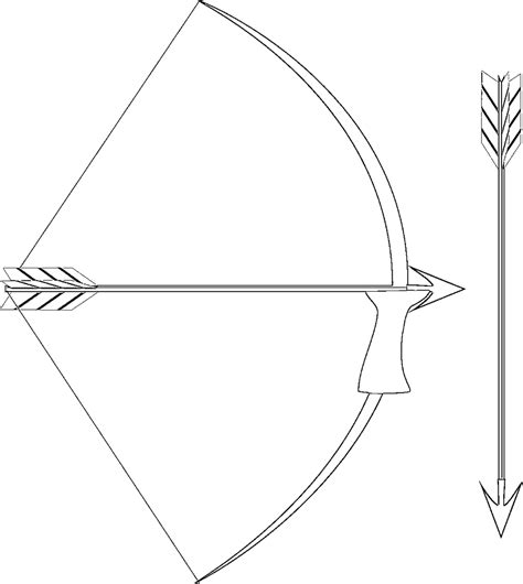 coloring page bow and arrow medieval europe coloring pages