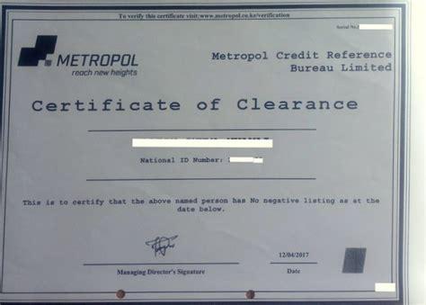 Clearance Letter Of Credit Eregulations Kenya