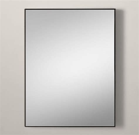 metal bathroom mirrors custom metal mirror floating restoration hardware