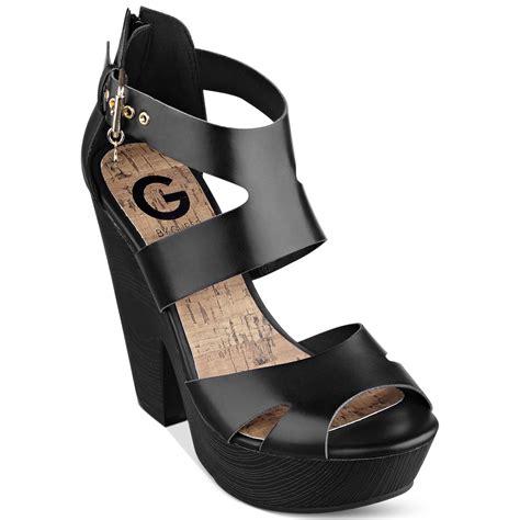 womens platform sandals g by guess womens sylbie platform sandals in black lyst