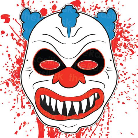 Clown Mask Template scary clown mask mask clown mask printable creepy work related design