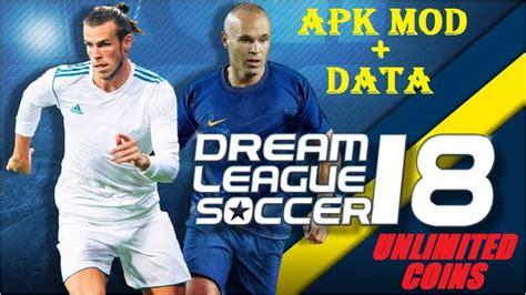 download game dream league mod apk data dream league soccer 2018 apk mod unlimited coins download
