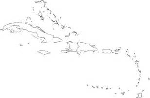 Us Islands Outline Map by Caribbean Outline Map