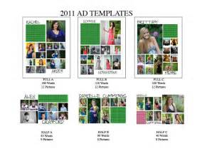 yearbook ad templates senior year yearbook third year ads templates