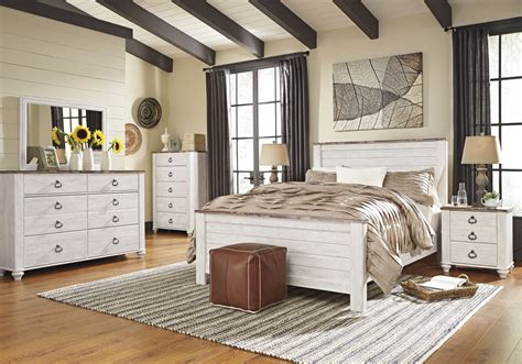 ashley furniture trishley 2pc bedroom set with queen sleigh bed ashley furniture willowton 2pc bedroom set with queen