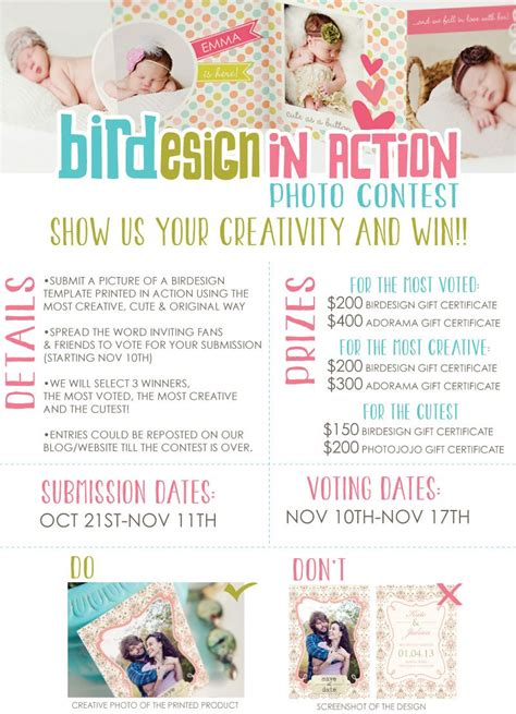 Instagram Giveaway Rules Template - first anniversary photo contest birdesign