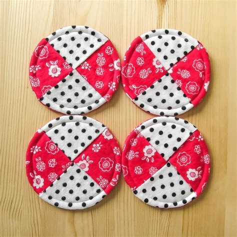 pattern for fabric wine coasters tutorial wine glass coasters muslin and merlot