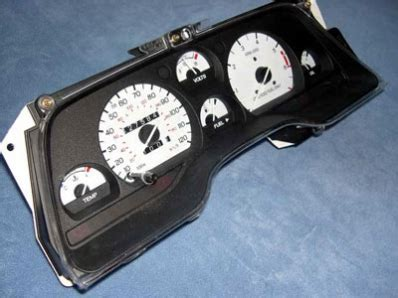 automotive service manuals 1994 ford thunderbird instrument cluster ford thunderbird 1994 white face gauges