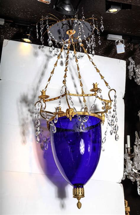 Cobalt Blue Chandelier Russian Neoclassical Cut Glass Cobalt Blue Glass Chandelier Or Lantern For Sale At 1stdibs