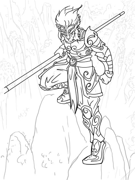 monkey kingdom coloring page monkey king coloring pages