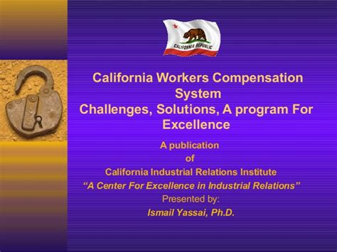 Workers Compensation Search California California Workers Compensation System