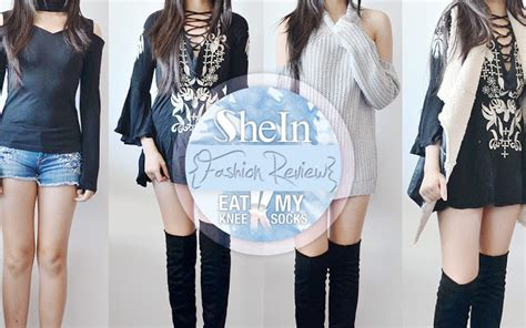 Shein Gift Card - shein fashion review lace up dress fleece vest choker top sweater eat my knee socks