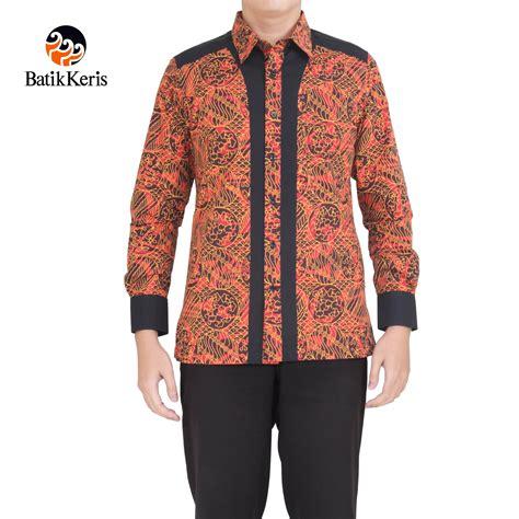 Blouse Batik Sekar Jagad kemeja batik slimfit lengan panjang motif sekar jagad