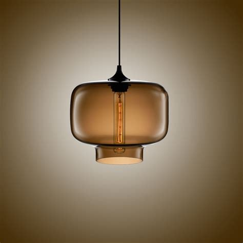 simple modern pendant lights with glass l shade in