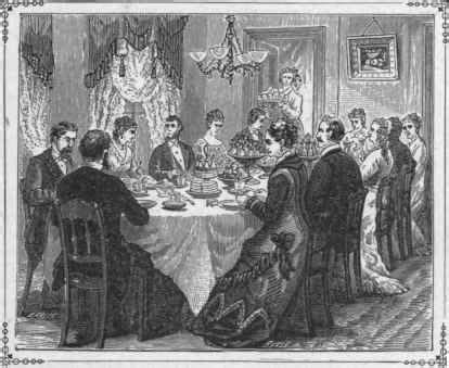 wealthy victorian family fig  gentility   dining