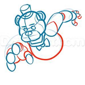 Draw freddy fazbear five nights at freddys step by step drawing