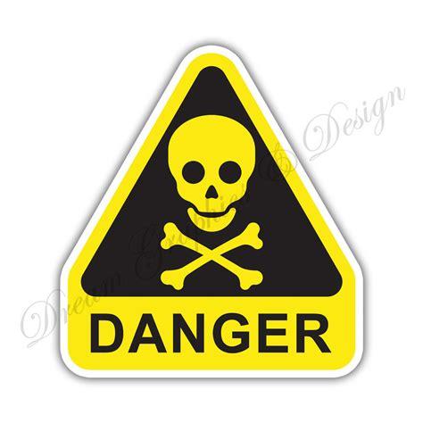 Aufkleber Quetschgefahr by Poison Danger Warning Sign Car Bumper Vinyl Sticker Window