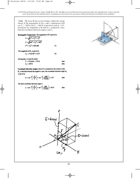 Search U Of M Chapter 2 Engineering Mechanics Statics R C Hibbeler 12th