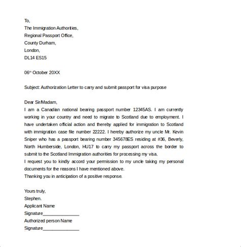 consent letter format for minor indian passport passport authorization letter