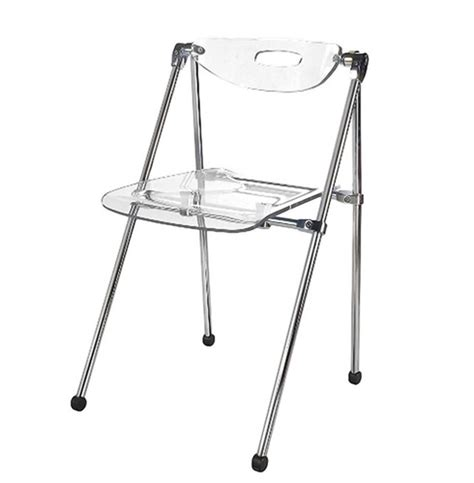 Folding Lucite Chairs - acrylic telescoping folding chair