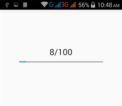 tutorial android progress bar android horizontal progress bar exle tutorial android