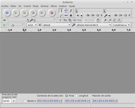 cortar archivos de audio audacity reducci 243 n de ruido cortar unir y nivelar