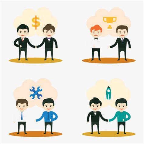 imagenes animadas empresariales material de dibujos animados de la colaboraci 243 n