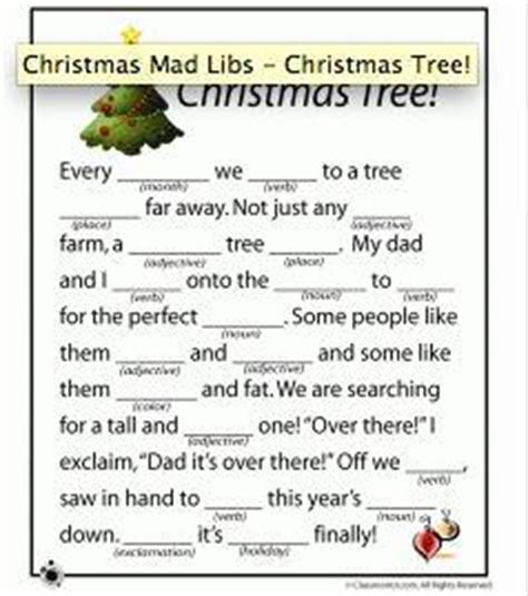 christmas mad libs printable tip junkie