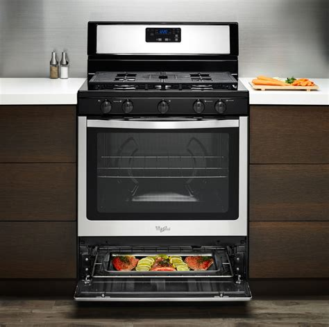 bottom drawer on electric oven whirlpool wfg505m0bw 30 inch freestanding gas range with