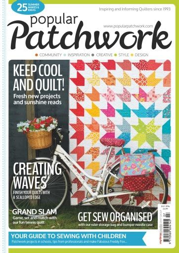 Patchwork Magazines - popular patchwork magazine july 2016 subscriptions