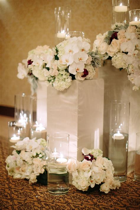 Hydrangea Decor by White Orchid And Hydrangea Altar Decor Elizabeth Designs The Wedding