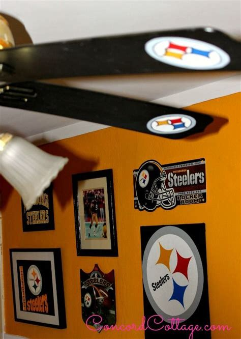 pittsburgh steelers ceiling fan how to paint steelers football ceiling fan hometalk