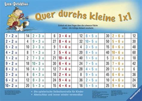 Das 1x1 by Quer Durchs Kleine 1x1 Lernen Mit Der Zaubertafel Lern
