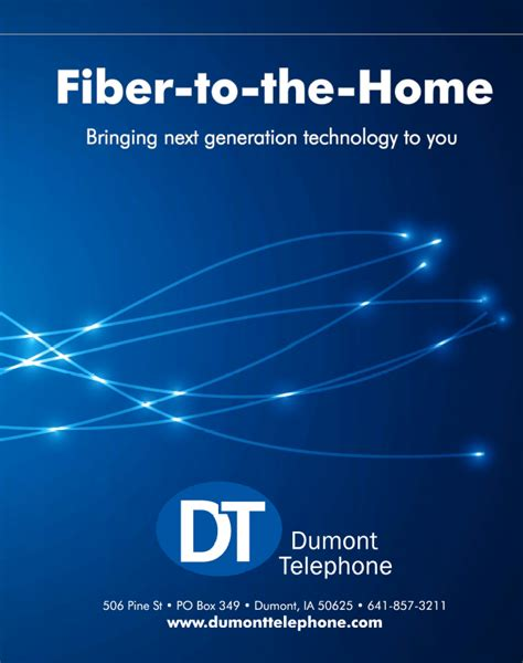 fiber to the home dumont telephone