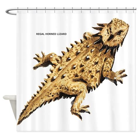 lizard shower curtain regal horned lizard shower curtain by animalartwork