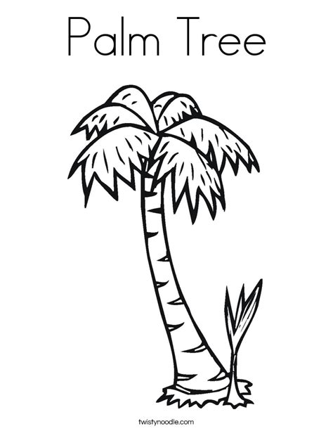 Palm Tree Coloring Page Twisty Noodle Palm Tree Coloring Page