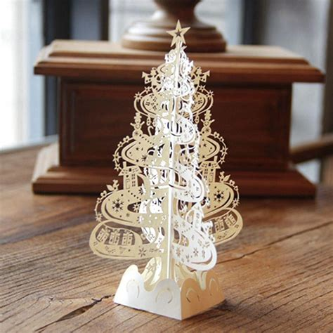 lasercut popup card template tree gifts 3d laser cut pop up cards handmade